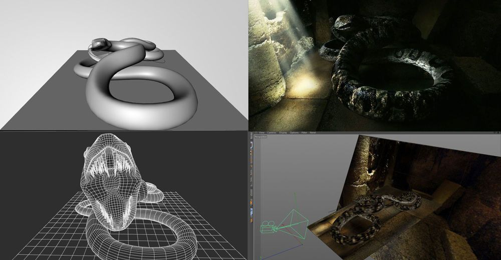 Download How to Make an animated snake by Cinema 4D Tutorials