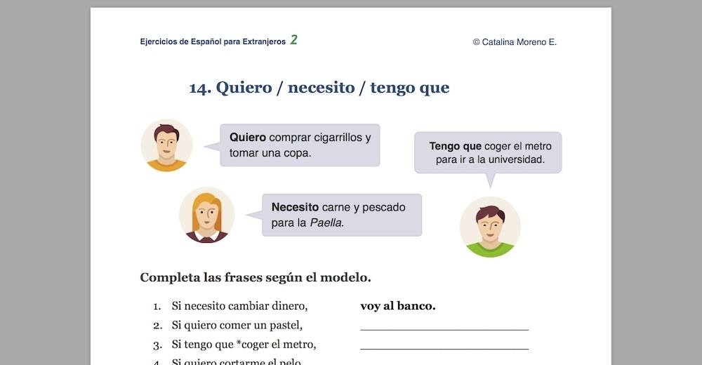 Download Ejercicios De Español 2 Spanish Grammar And Exercises For